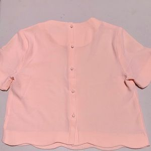 Scalloped pink top